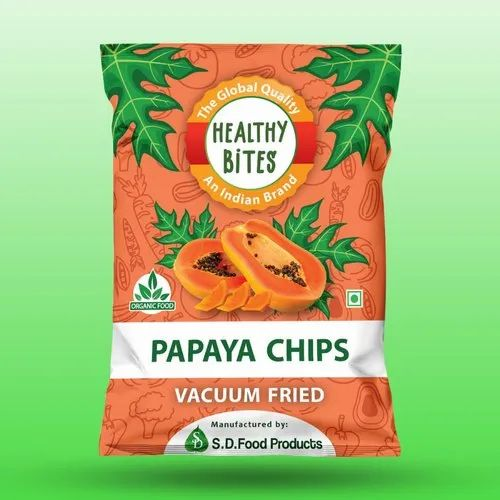 Healthy Bites Vaccum Fried Papaya Chips, Packaging Size: 35 Gm