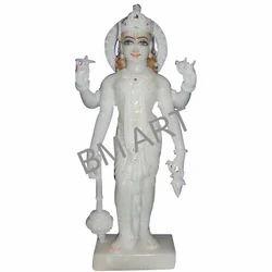 White Marble Vishnu Statue