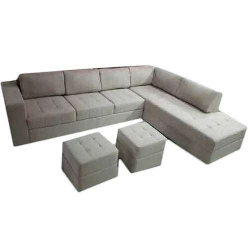 L Shape Sofa With Two Puffy At Rs 26500