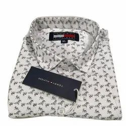 Cotton Collar Neck Mens Printed Shirt