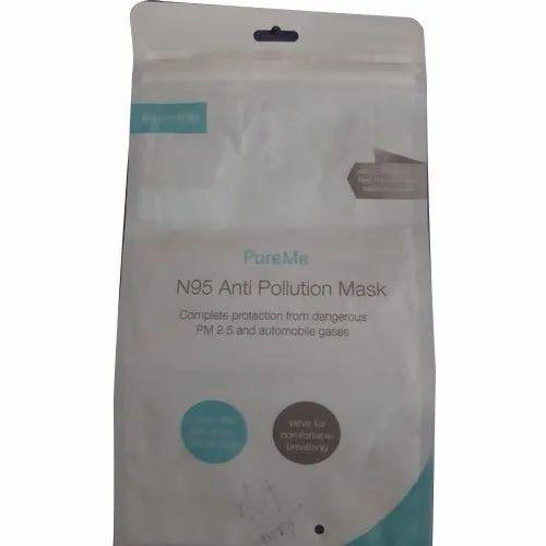 LDPE Printed Zip Lock Poly Bag, For Mask Packaging ...