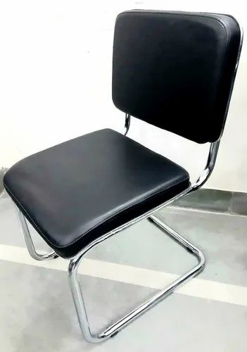 Black Visitor Chair Without Arms