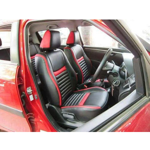 Leather Black And Red Neoprene Car Seat Cover