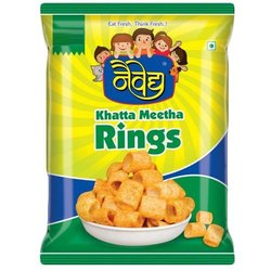 Naivedhya Fryums Rings Snacks, Packaging Size: 25 G, Packaging Type: Packet