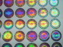 Oval Shape  Custom Hologram Labels