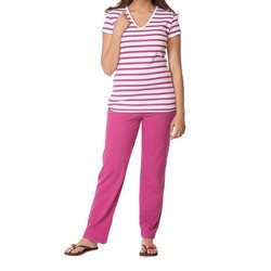 Clifton Womens Stripe Night Wear Pyjama Set