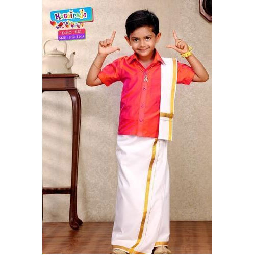 f4f073f1b Boys Wedding Silk Boy Dhoti Shirt