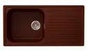Single Bowl Drainboard Granite Sink Brown Color