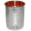 Stainless Steel & Copper Hammer Water Glass For Home