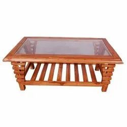 Brown Wooden Teapoy Table