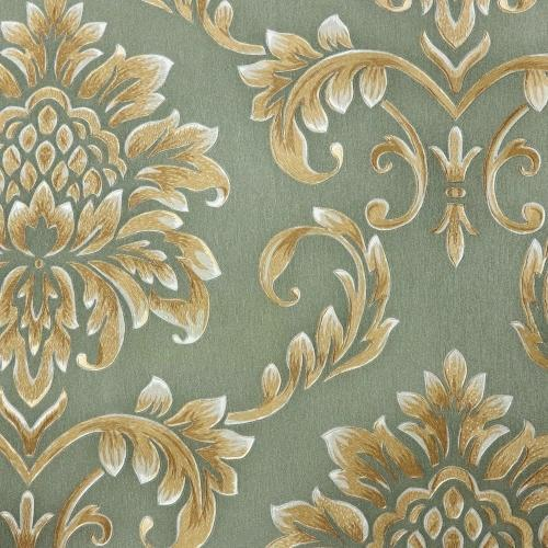 Printed Embroidered Wallpaper