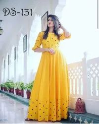 Embroidered Butti Gown