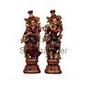 Radha Krishna Statues Brass