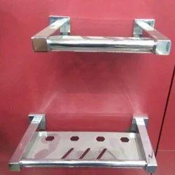 Stainless Steel Bathroom Soap Dish, Shape: Rectangular
