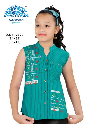 Multy Printed Girls Top Design, Size: 24-40