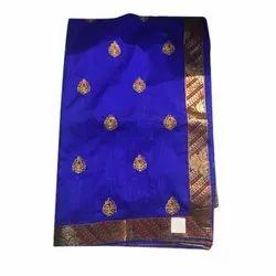 824e3e42c3e535 Ladies Printed Peach Banarasi Saree