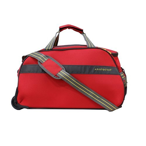 Aristocrat Polyester 55 CMS Red Travel Duffles at Rs 1299  piece ... 30960c0fd2c58
