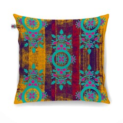 Exotic Flower Motif Cushion Cover