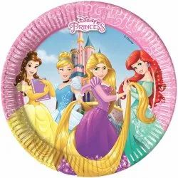 Princess Cartoon Character Party Paper Plates