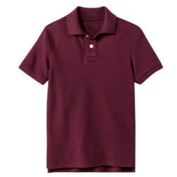 Maroon Cotton School Uniform T Shirt