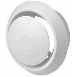 White Polished PVC Ventilation Air Diffuser, For Ceiling, Shape: Round