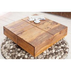Wood Square Center Wooden Table