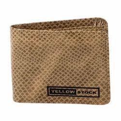 Yellow Stock PU And Foam Leather Leopard Beige Wallet