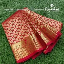 Wedding Wear Red Pure Silk Saree, Dry Cleaning, 6 m (with blouse piece)