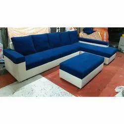Modern Brown Modular Home L Shape Sofa Set, Back Style: Cushion back