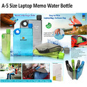 A-5 Laptop Memo Water Bottle
