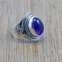 Handmade 925 Sterling Silver Amethyst Gemstone Ring Wr-5162