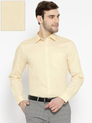JIMMY JACKSON Button Formal Yellow Shirt, Machine wash