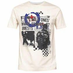 Half Sleeves Casual Wear Mens Printed T Shirt