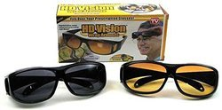 HD Vision Wraparound Driving Glasses-Pack of 2, Day & Night Glasses, Unisex