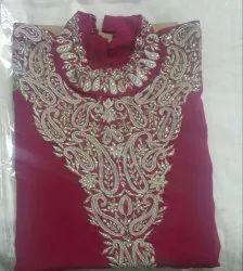 Girl Unstitched Silk Cotton Kurti, Size: Large