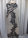 Velvet Applique Trimmed Stole
