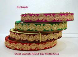 Round Jardoshi Chaab Tray