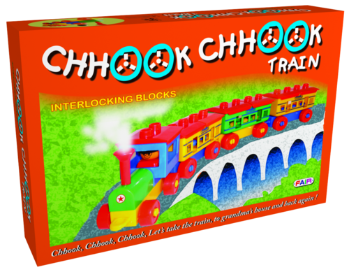 Fair Chook Chook Train Set Building Blocks Educational