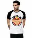 Printed Raglan Half Sleeve T Shirt