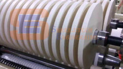 Automatic Shreeji Tech Engineering Slitter Rewinder Machine for Paper Cup Material, Capacity: 2.5 Ton