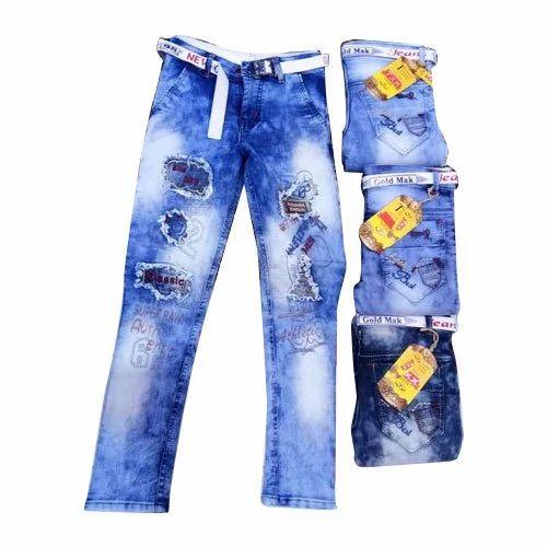 ad83448b5 7XX Denim Kids Damage Faded Jeans, Rs 250 /piece, M Rocks Garments ...