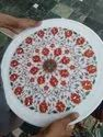 Round Marble Plate Inlay Work
