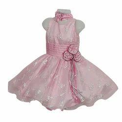 Kids Pink Party Wear Frock