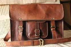 Vintage Leather Laptop Bag, Messenger Bag, Office Bag, Satchel