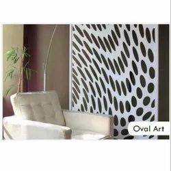 Oval Art Panel