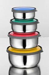 Double Colour Lid Bowl Set