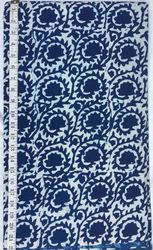 Blue And White Indigo Hand Block Print Designs Fabric, for Garments, Bags & Backpacks, Upholstery, GSM: 100-150