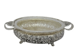 Bharat Handicrafts Silver Plated Decorative Urli