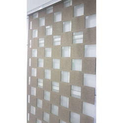 Check Pattern Wooden Cube Zebra Blind for Home