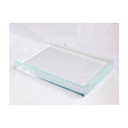 Extra Clear Toughened Glass, Shape: Flat